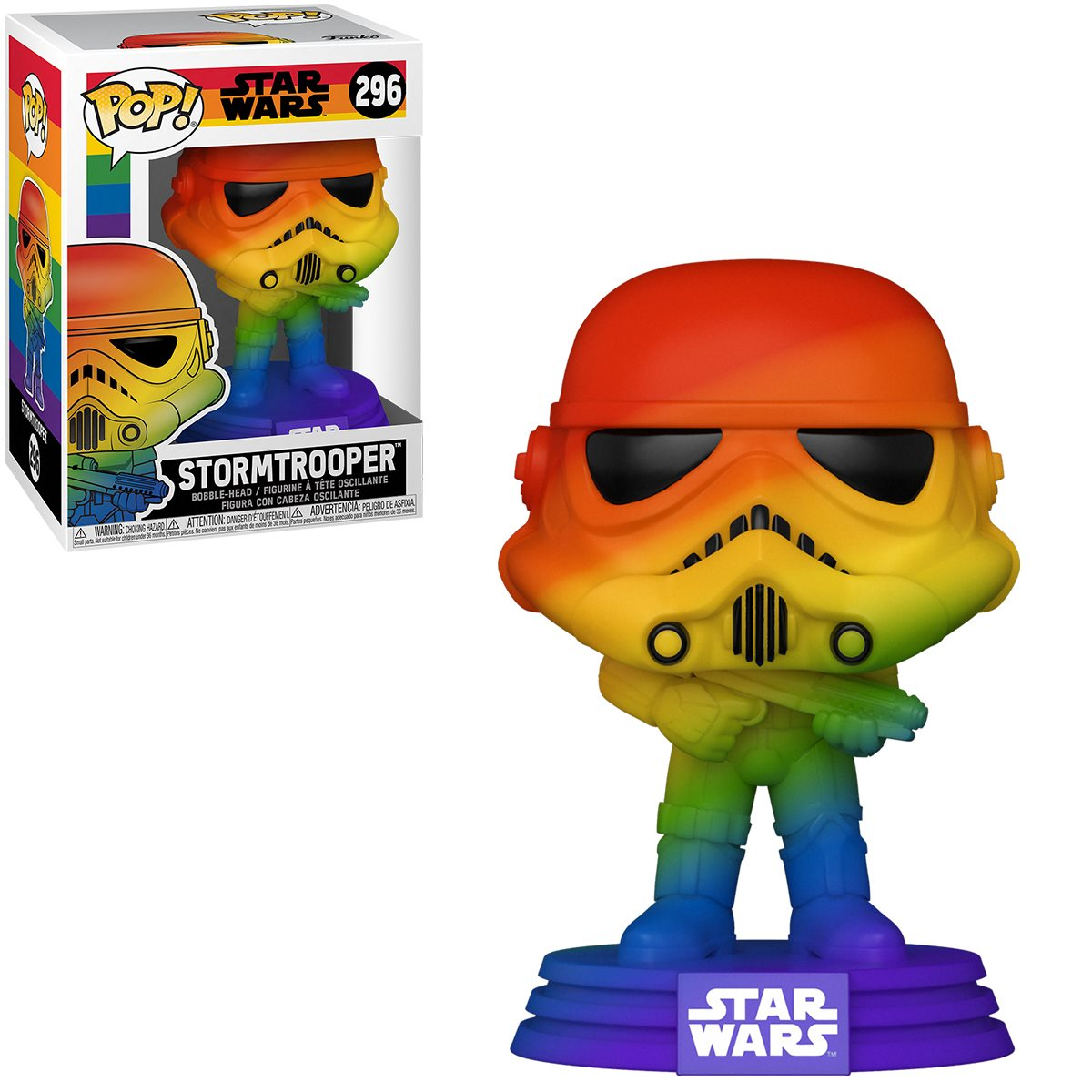 PRÉ VENDA: Funko Pop! Stormtrooper Pride 2021 Rainbow : Star Wars #296 - Funko
