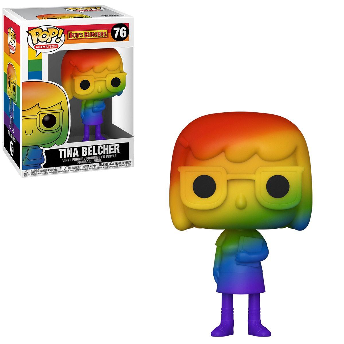 PRÉ VENDA: Funko Pop! Tina Belcher Pride 2021 Rainbow : Bob's Burger #76 - Funko