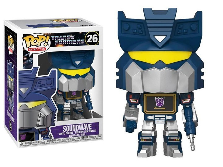 PRÉ VENDA: Funko Pop! Transformers: Soundwave (Retro Toys)  #26 - Funko