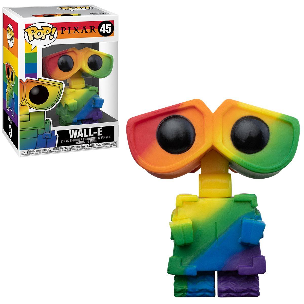 PRÉ VENDA: Funko Pop! Wall-E Pride 2021 Rainbow: Disney Pixar #45 - Funko