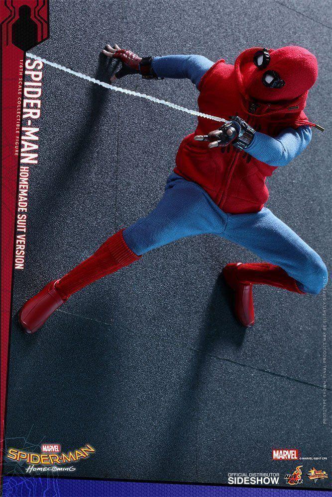 PRÉ VENDA: Boneco Homem-Aranha Uniforme Caseiro (Spider-Man Homemade Suit Version):  Homem-Aranha De Volta ao Lar (Spider-Man Homecoming) Escala 1/6 Movie Masterpiece Series - Hot Toys