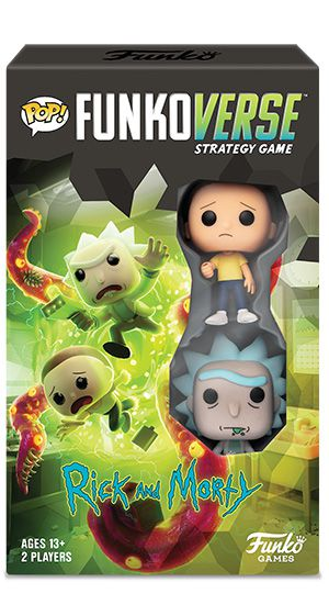 PRÉ-VENDA Jogo de Tabuleiro (Board Games): Rick and Morty 100 Strategy Game Expandalone: Funkoverse - Funko