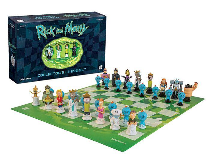 PRÉ-VENDA Jogo de Xadrez Rick And Morty (Collector Set) - USAopoly