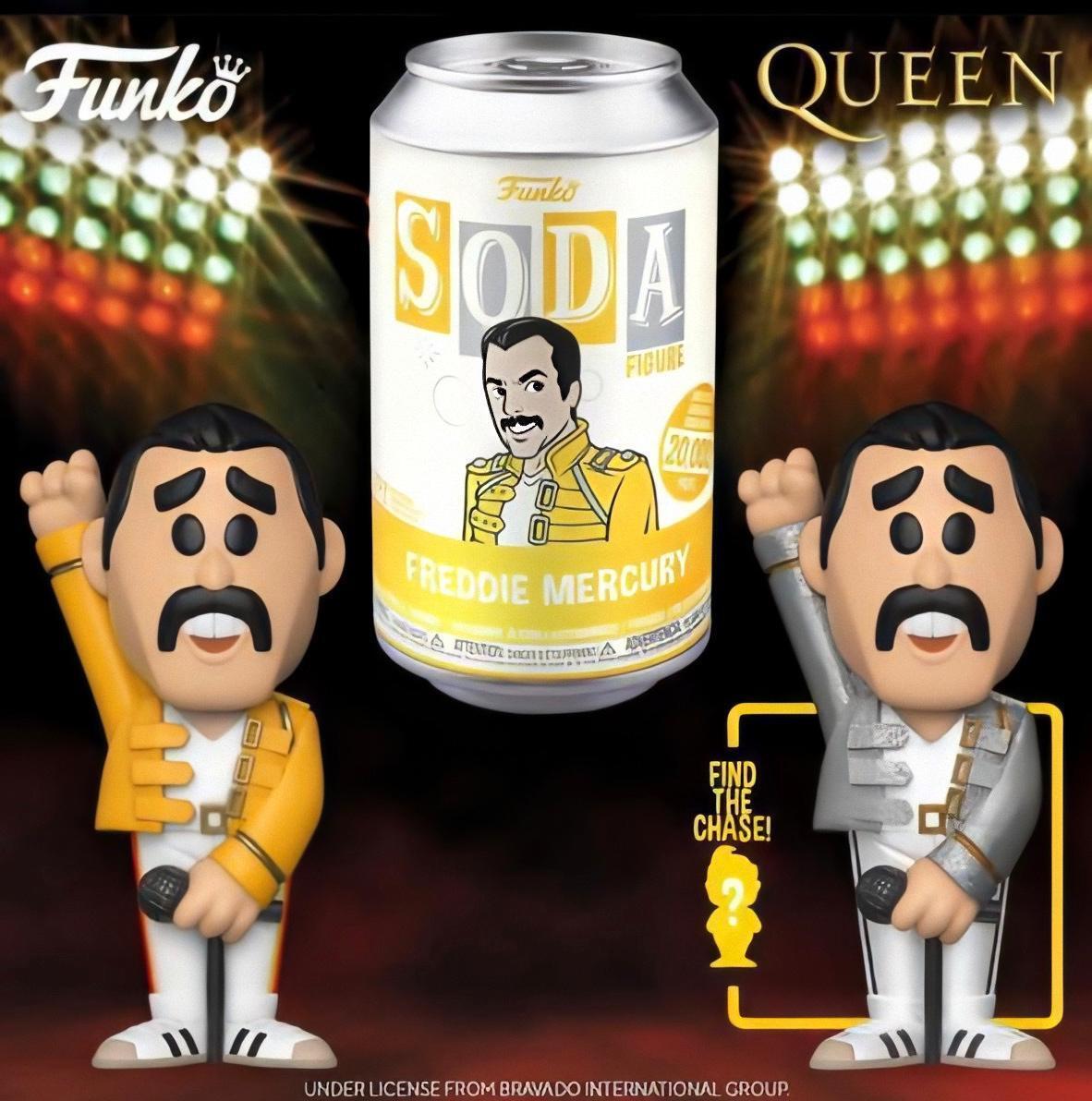 PRÉ VENDA: Lata Pop! Freddie Mercury: Vinyl Soda: (Edição Limitada) - Funko