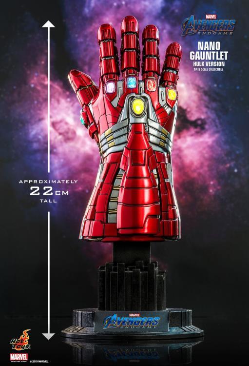 PRÉ VENDA Manopla do Infinito (Nano Gauntlet-Hulk Version): Vingadores Ultimato (Avengers Endgame) (Escala 1/4) - Hot Toys