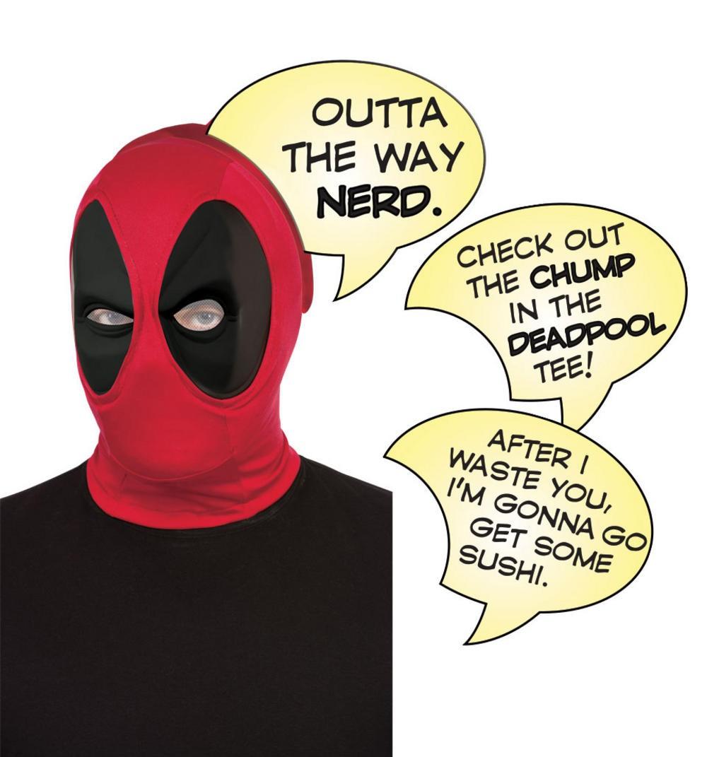 Máscara Deadpool Deluxe com Balão de Fala (Speech Bubble) PX Box Set - Rubies Costume