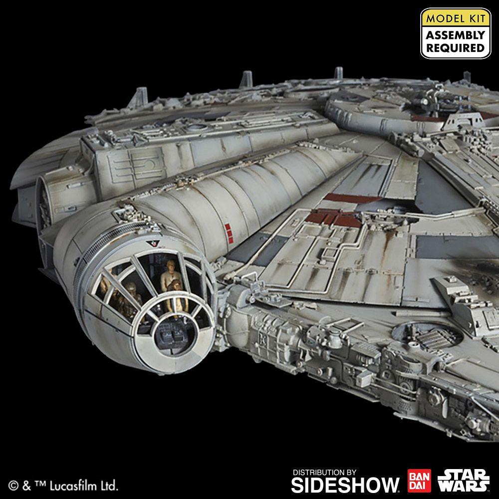 PRÉ VENDA Model Kit Millennium Falcon: Star Wars (Uma Nova Esperança) - Bandai
