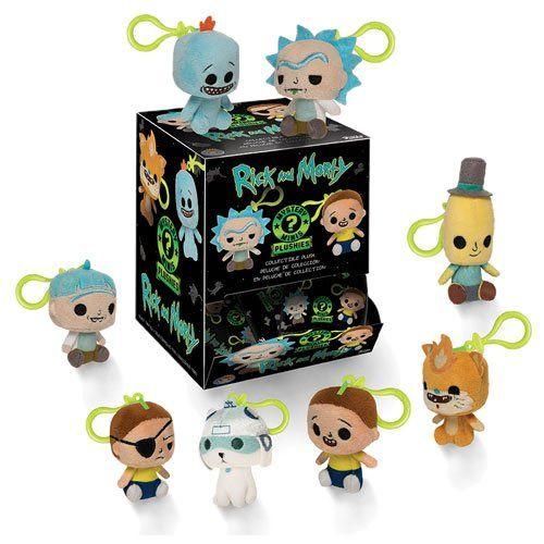 PRÉ VENDA: Mystery Minis Chaveiros Pelúcia: Rick and Morty - Funko