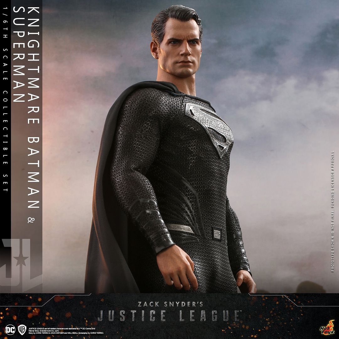 PRÉ VENDA: Pack Com 2 Action Figure Batman Knightmare E Super Homem Superman: Liga Da Justiça Justice League Snyder Cut Zack Snyder Escala 1/6 - Hot Toys