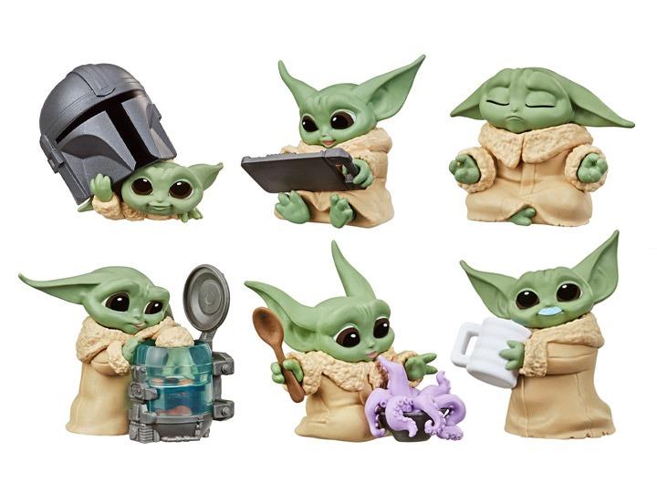 PRÉ VENDA: Pack Com 6 Bonecos Grogu Baby Yoda The Child: The Mandalorian Star Wars Serie 3 - Hasbro