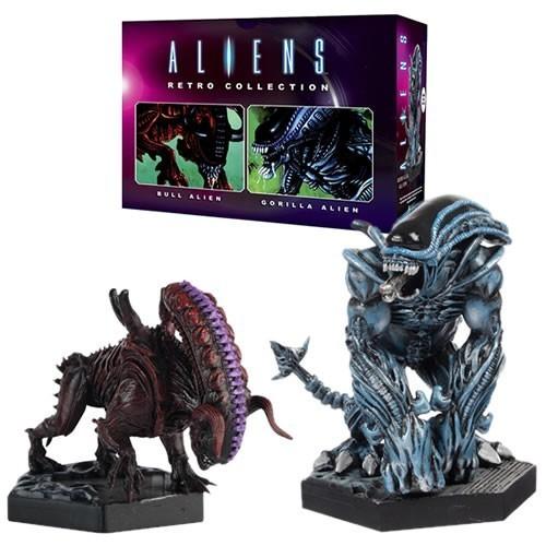 PRÉ VENDA: Pack Estátuas Bull & Gorilla: Aliens Retro Figurine Collection #02 Escala 1/16 -  Eaglemoss Publications