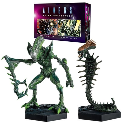 PRÉ VENDA: Pack Estátuas Mantis & Snake: Aliens Retro Figurine Collection #01 Escala 1/16 -  Eaglemoss Publications