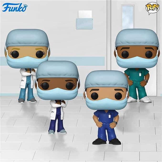 PRÉ VENDA: Pack Pop! Enfermeiros (Linha de Frente) - Heróis - Funko Front Line Worker Hospital