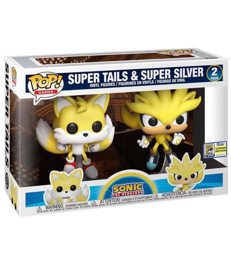 Funko Pack Pop Super Tails Super Silver: #2 (EXCLUSIVO SDCC 2020) Edição Limitada - Funko