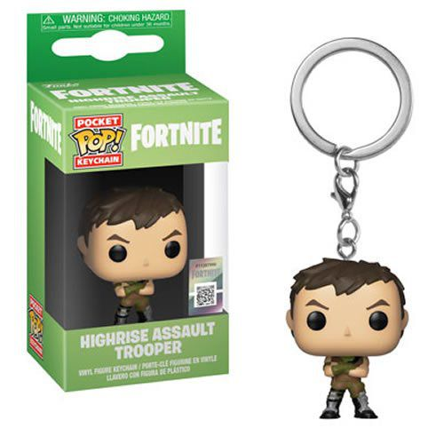 PRÉ VENDA: Pocket Pop Keychains (Chaveiro) Highrise Assault Trooper: Fortnite - Funko