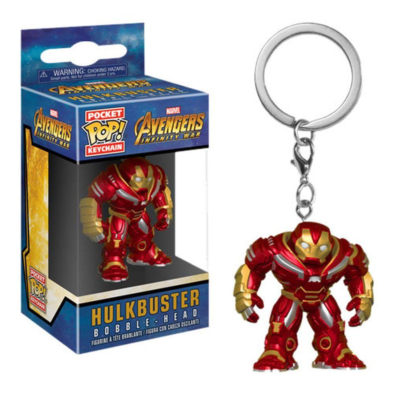 PRÉ VENDA: Pocket Pop Keychains (Chaveiro) Hulkbuster : Vingadores (Avengers Infinity War) - Funko