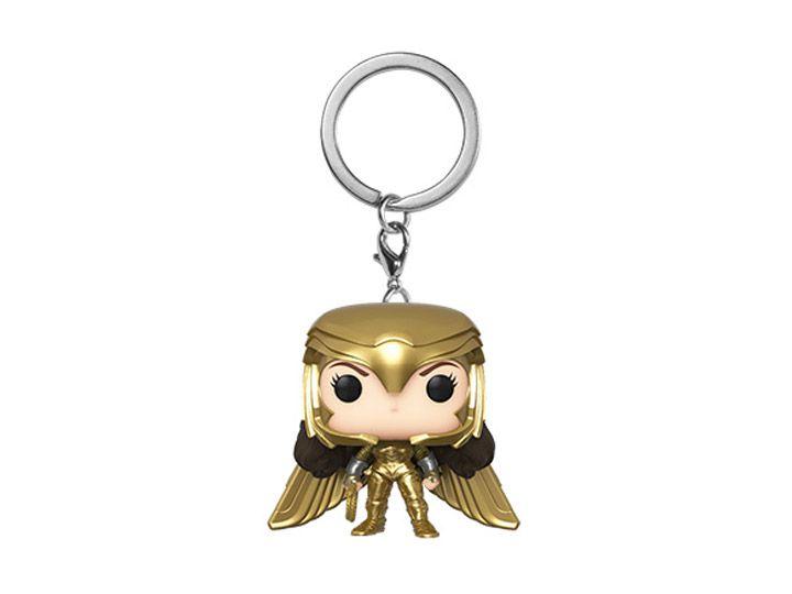 PRÉ VENDA: Pocket Pop Keychains (Chaveiro) Mulher-Maravilha Armadura Dourada: Mulher-Maravilha 1984 (Wonder Woman 1984) - Funko