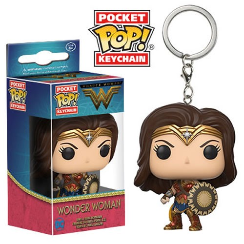 Funko Pocket Pop Keychains (Chaveiro): Mulher Maravilha (Wonder Woman) Filme - Funko
