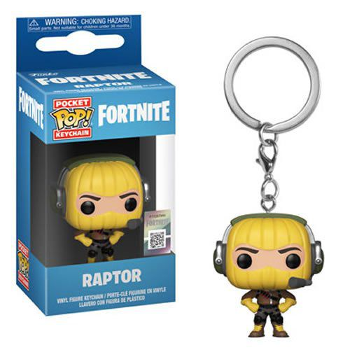 PRÉ VENDA: Pocket Pop Keychains (Chaveiro) Raptor: Fortnite - Funko
