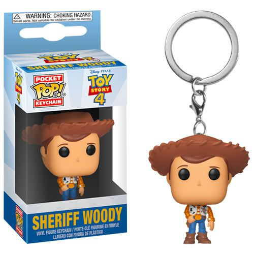 PRÉ VENDA Pocket Pop Keychains (Chaveiro) Sheriff Woody: Toy Story 4 - Funko