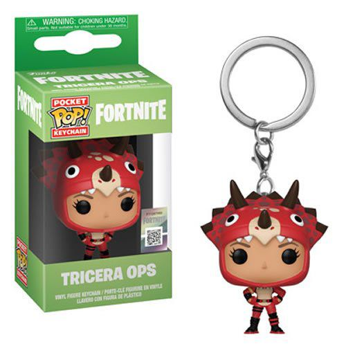 PRÉ VENDA: Pocket Pop Keychains (Chaveiro) Tricera Ops: Fortnite - Funko