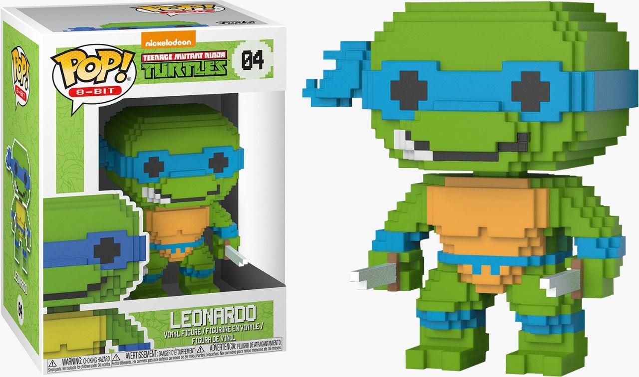 PRÉ VENDA: Funko Pop 8-Bit Leonardo: Tartarugas Ninja #04 - Funko