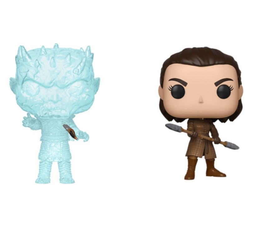 PRÉ VENDA: Funko Pop! Arya Stark e Night King: Game of Thrones (Pack de 2) - Funko