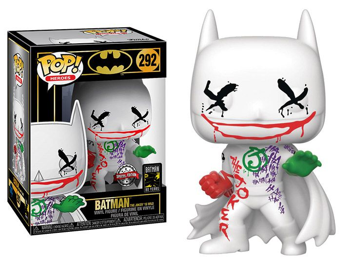 PRÉ VENDA: Pop! Batman (Jokers Wild): DC Comics (Batman 80th Anniversary) Exclusivo #292 - Funko