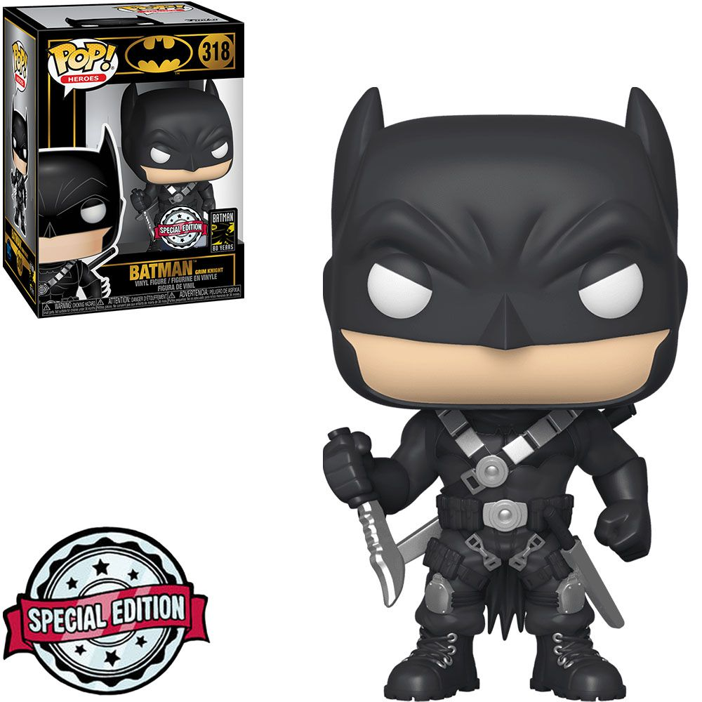 Funko Pop! Batman O Cavaleiro Sombrio: Batman O Homem que Ri (The Man Who Laughs) #318 (Exclusive) - Funko