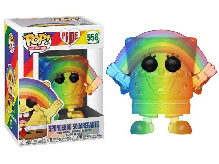 PRÉ VENDA: Funko Pop! Bob Esponja (Pride 2020): Bob Esponja Calça Quadrada (SpongeBob SquarePants) #558- Funko