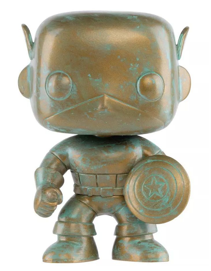 PRÉ-VENDA Pop! Capitão América (Captain America Patina): Marvel 80th (Exclusivo) #497 - Funko
