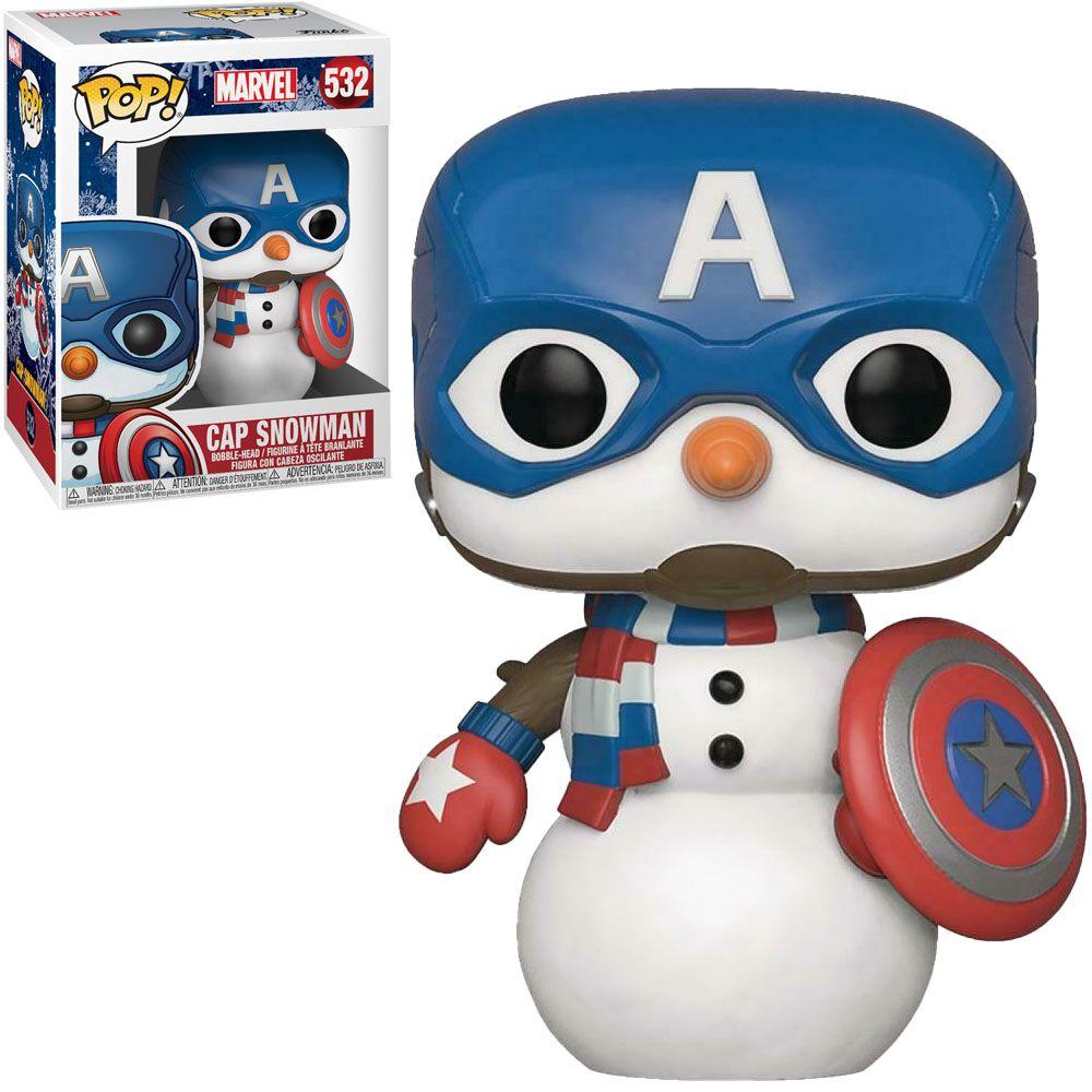 Funko Pop! Capitão América (Captain America Snowman): Marvel (Holiday) #532 - Funko