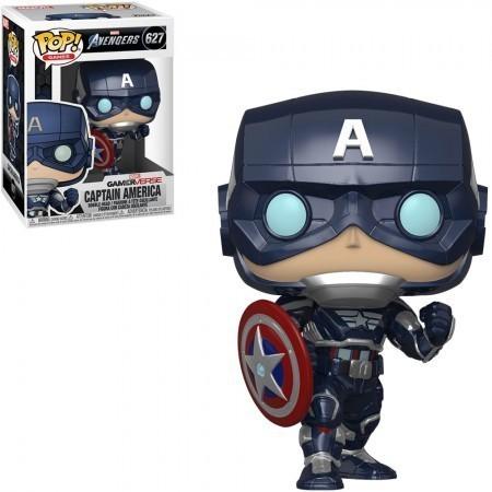 Funko Pop! Capitão América (Captain America) Stark Tech Suit: Marvel's Vingadores (Marvel's Avengers) GamerVerse #627 - Funko