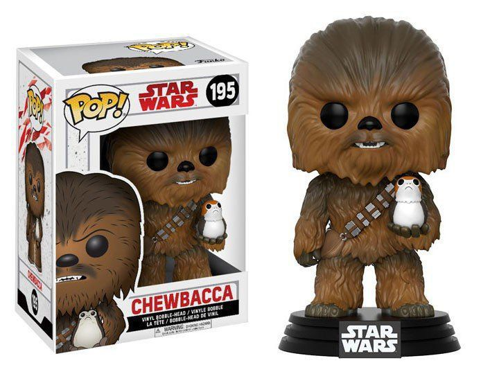 Funko Pop Chewbacca: Star Wars: Os Últimos Jedi (The Last Jedi) #195 - Funko