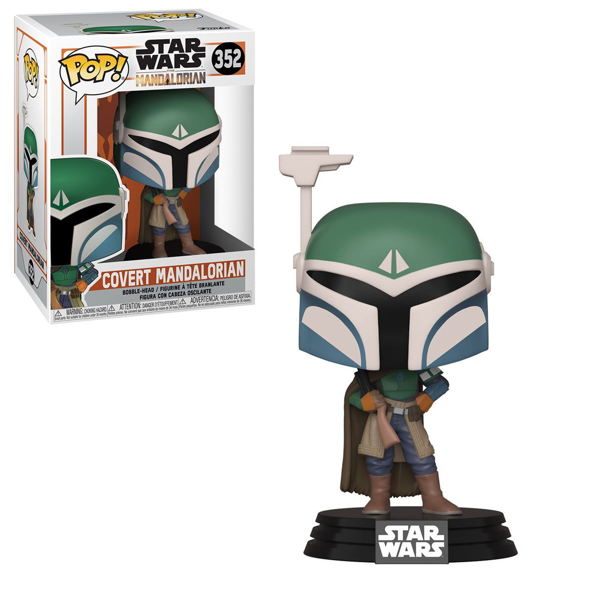 Funko Pop! Covert Mandalorian: The Mandalorian (Star Wars) Disney+ #352 - Funko
