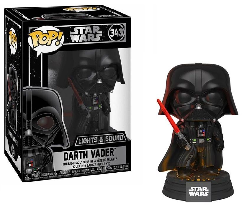 Funko Pop! Darth Vader: Star Wars Com Som e Luz (Lights And Sound) #343 - Funko