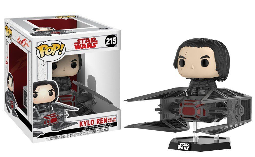 Funko Pop Deluxe Kylo Ren in Tie Fighter: Star Wars: Os Últimos Jedi (The Last Jedi) #215 - Funko