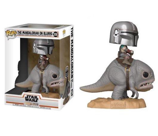 Pop! Deluxe The Mandalorian (On Blurrg): The Mandalorian (Star Wars) Disney+ #358 - Funko