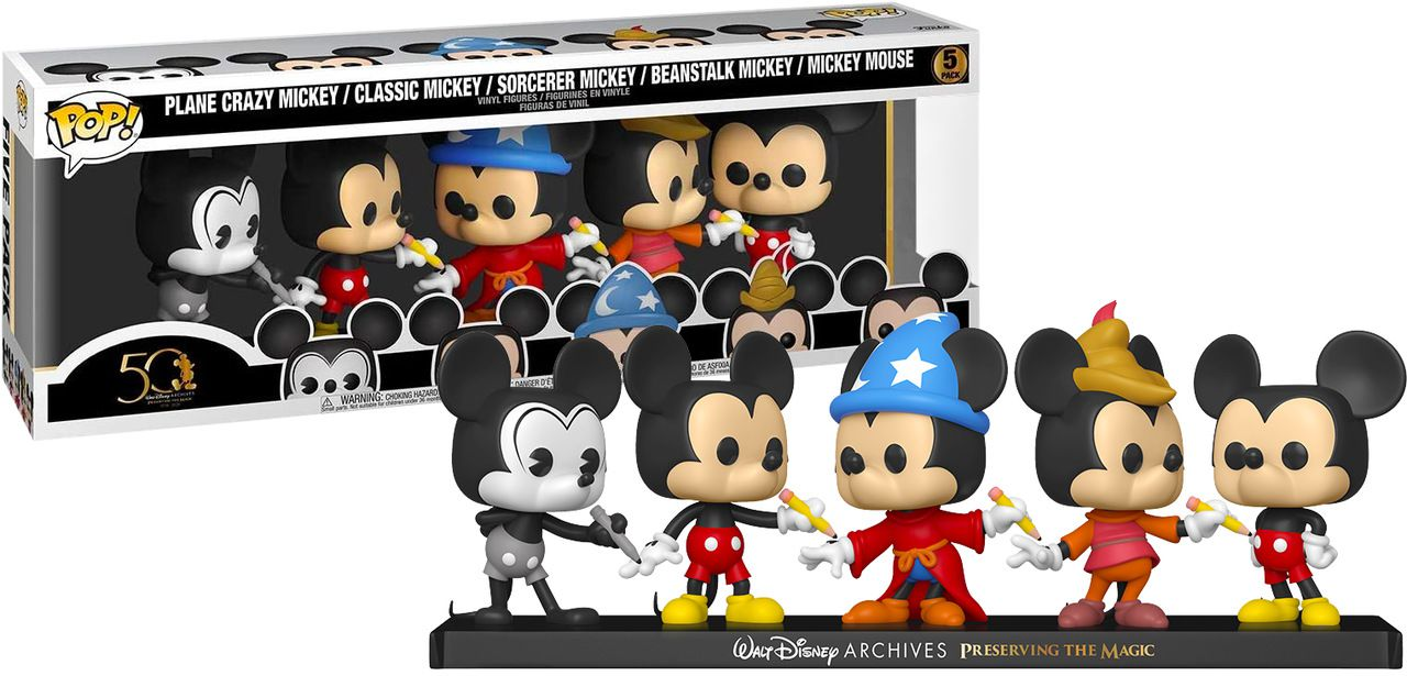 PRÉ VENDA: Funko Pop! Disney Archives Mickey Mouse 5 Pack: Arquivos Walt Disney - #5: Disney: Exclusivo - Funko