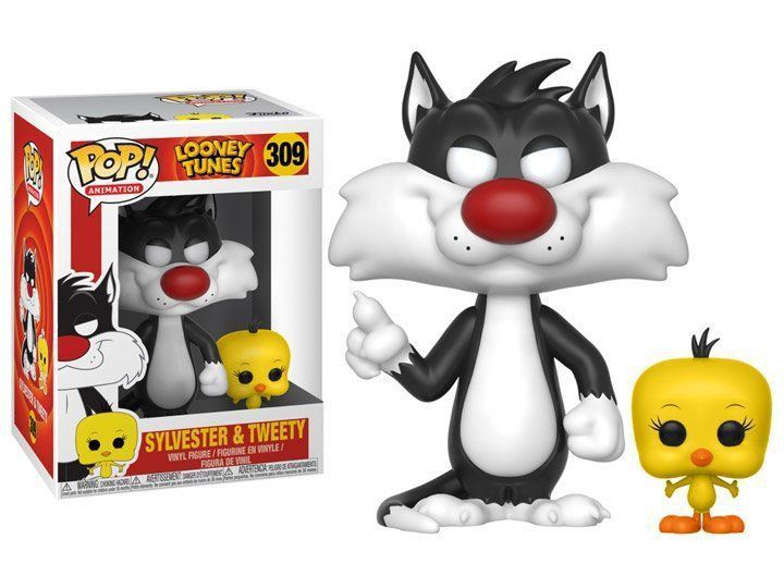 Funko Pop! Frajola e Piu Piu (Sylvester & Tweety): Looney Tunes #309 - Funko
