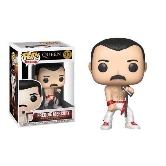 Pop! Freddie Mercury (Shirtless): Queen (Rock) Exclusivo #97 - Funko