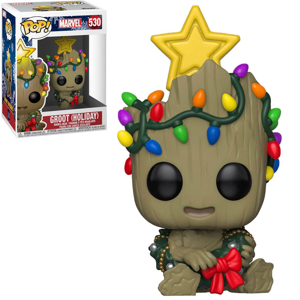 Funko Pop! Groot (With Star): Marvel (Holiday) #530 - Funko