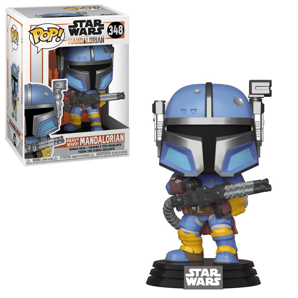 Funko Pop! Heavy Infantry Mandalorian: The Mandalorian (Star Wars) Disney+ #348 - Funko