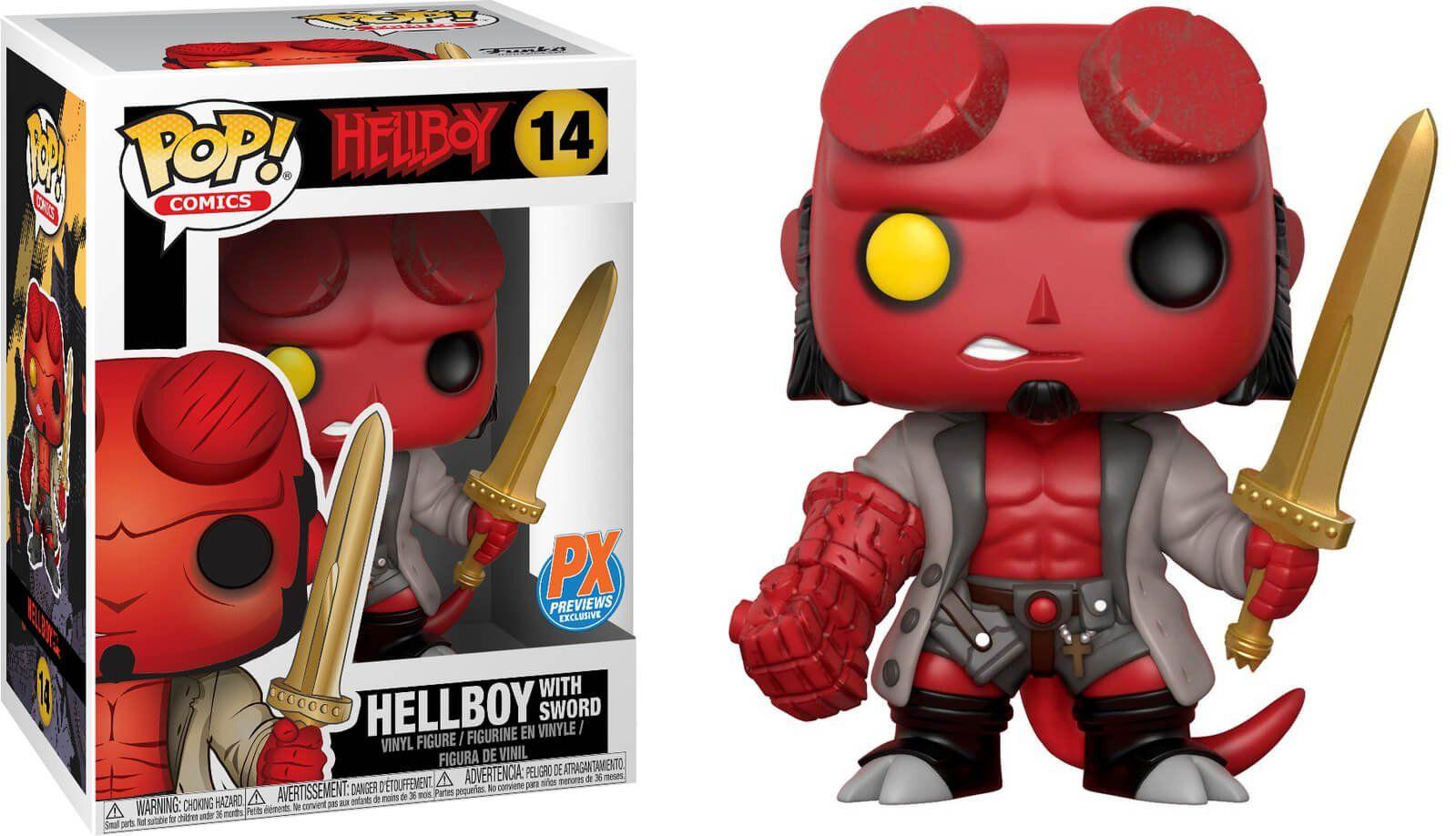 Funko Pop! Hellboy w/ Excalibur: Hellboy #14 - Funko