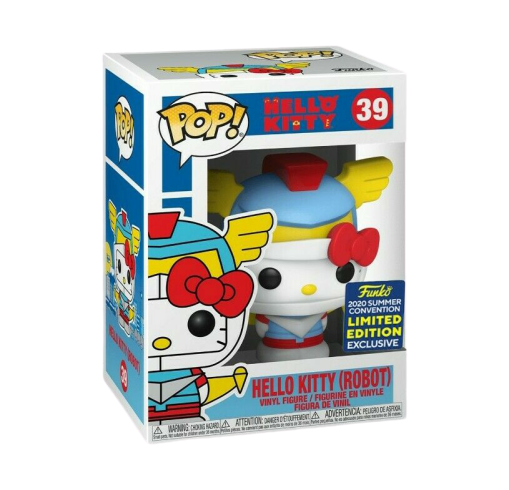 PRÉ VENDA: Funko Pop!  Hello Kitty Robô: Hello Kitty (EXCLUSIVO SDCC 2020) (Edição Limitada) - Funko