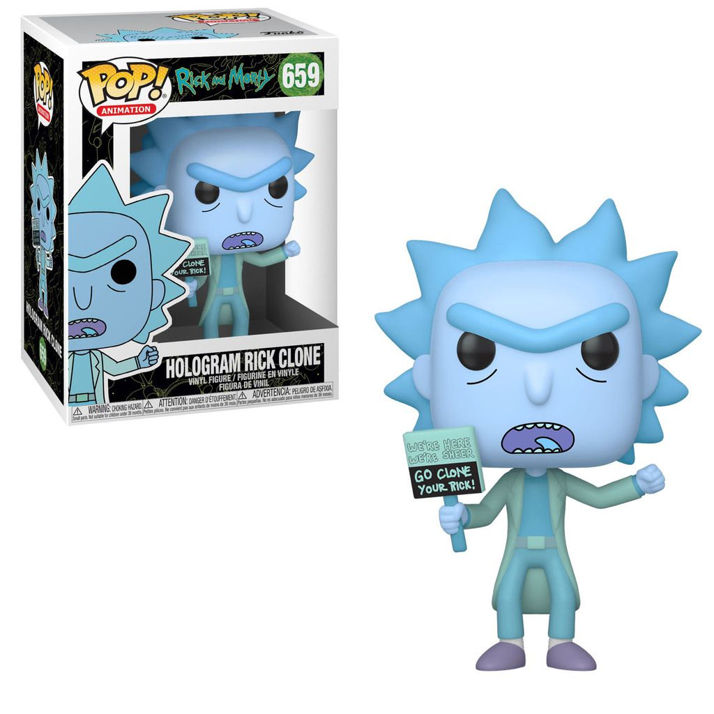 Funko Pop! Hologram Rick Clone: Rick And Morty #659 - Funko