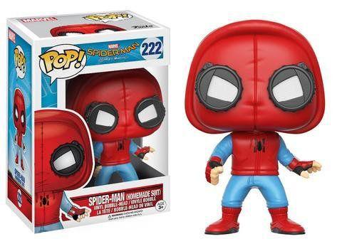 Funko Pop Homem-Aranha Uniforme Caseiro (Spider-Man: Homemade Suit): Homem-Aranha De Volta ao Lar (Spider-Man Homecoming) #222 - Funko