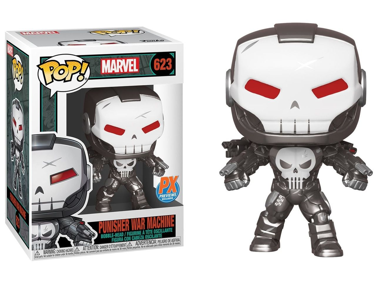 PRÉ VENDA: Funko Pop! Justiceiro Máquina de Combate (Punisher War Machine): Punisher War Machine (Exclusivo) #623 - Funko