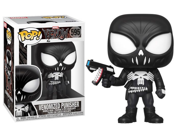 Funko Pop! Justiceiro Venom (Venomized Punisher): Marvel #595 - Funko