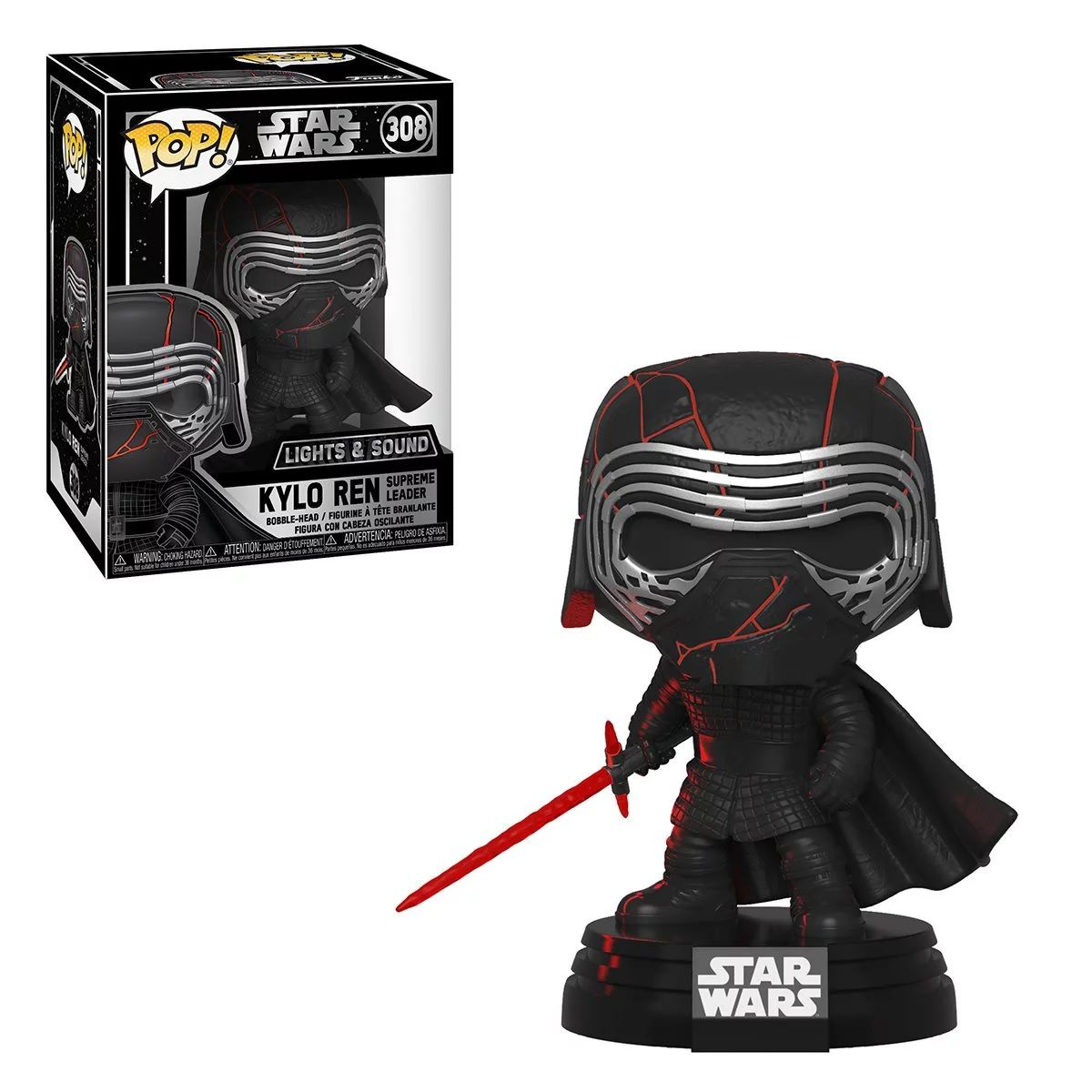 Funko Pop! Kylo Ren: Star Wars A Ascensão Skywalker (Star Wars The Rise of Skywalker) (Lights And Sound) #308 - Funko